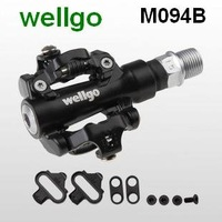 100% original wellgo Sealed bearing Pedal matched cycling shoes,342g/pair.High quality bike parts.M094B.