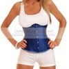 Free shipping Wholesale 2012 Blue Jacquard Underbust Corset Floral Brocade Sexy Corset underwear Waist Cincher lingerie push up