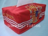 spain  tissue box coat  / red paper holder cover 1 pcs