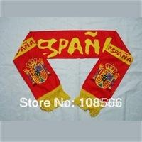 Wholesale spain red scarf /  football team fans scarves  147 * 18cm 5pcs /lot