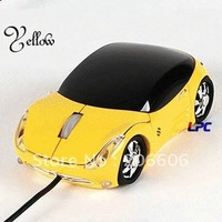 2012 new arrival hot selling novel computer usb wired sports car optical mouse(3867c)