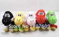 "Wholesale   Super Soft 6"" Super Mario Bro Yoshi Plush Doll Figure Toy, 5 colors,50pcs/lot"