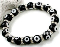 Free Shipping wholesale Lucky Eye Bracelet, Evil Eye Bead Jewelry, Lampwork,Fit Pando Charms Bracelet, 10PCS/LOT