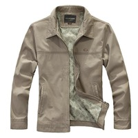 Free Shipping,New,Men,turn colla, cotton, jackets, coats, spring/autumn