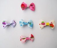 Free shipping - 5 colors1.78'' cloth hair bow  wholesale price 60pcs/lot