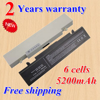 High quality NEW 6 CELL 11.1V Laptop Battery AA-PB9NC6B For SAMSUNG R468 R458 R505 R522 Q322 R580 AA-PB9NS6B black white