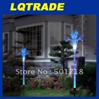 High-Q solar products&Low cardon Chriatmas/LED Solar Lights / Christmas Lights /  Home Decorative lights /Fiber optic lily