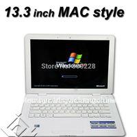 Free Shipping Ultraslim 13.3 inch 4G 500GB Laptop (Intel Atom D25001.8GHZ Dual Core built in camera, WIFI,Bluetooth
