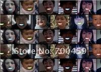 New Lots 192Pcs''colored teeth Light  Popular in Japan Light teeth Funny dentures Funny Light LED light Halloween