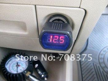 Wholesale 10pcs/lot   DC12V/24V Digital LED Auto Car Volt Voltage Voltmeter GAUGE Battery Indicator Meter Tester Free shipping