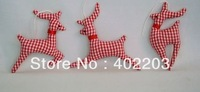 christmas decorations-christmas ornament-fabic decorations-christmas deer hanger-xmas tree ornament-24pcs/lot-by randomly