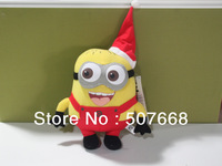 "New Arrival Despicable Me Red Minion 9"" Plush Doll toys 3D Eyes Cute toy Free shipping"