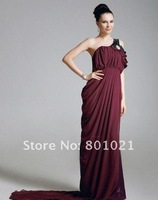 Lindsay Price Trumpet/ Mermaid One Shoulder Court Train Chiffon Elastic Woven Satin Emmy/ Evening Dress