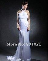 Giuliana Rancic Trumpet/ Mermaid Halter Sweep/ Brush Train Elastic Silk-like Satin Emmy/ Evening Dress