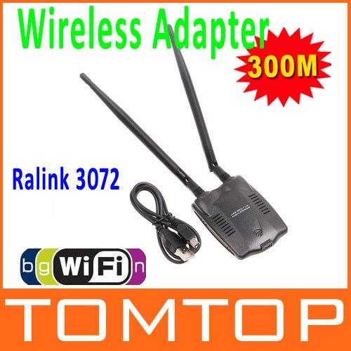 300M USB WiFi Wireless Network Card LAN Adapter 802.11 n/g/b  w/ Antenna MIMO  CCA
