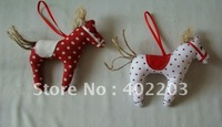 christmas ornament-christmas decorations-fabic-horse hanger-handwork-24pcs/lot-by randomly