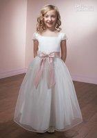 2011 Mothercare Kids Girls' s Satin unsleeve tulle Flower dresses dress girls child girl 001