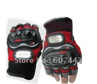 Motorcycle Bike Racing Riding  fingerless Protective Gloves RED SIZE:XL