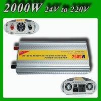 Meind Modified sine wave Power inverter 2000w converter DC 24V to AC 220V 230V 240V with battery charge function