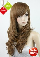 High Quality,25INCH 150G Blended  india  human hair ,Natural Color Full lace wig, silky straight,free EMS shipping 35%