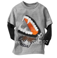 Gray top New Arrival Children&amp;#39;s Boy Girl&amp;#39;s t-shirts can mix  different models 6sizes(12M/18M/24M 3T 4T 5T) LT-18