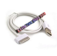 100PCS/LOT USB Data Sync Charger Cable For iPhone 4G 4S, Free shipping!