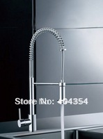 Solid Brass Put -out Kitchen Faucet,Chrome finished