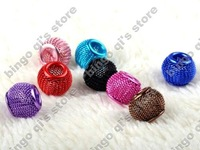 Free shipping!! wholesale 20pcs mix color mesh balls beads!! Basketball wives spacer beads!!!Bbd4