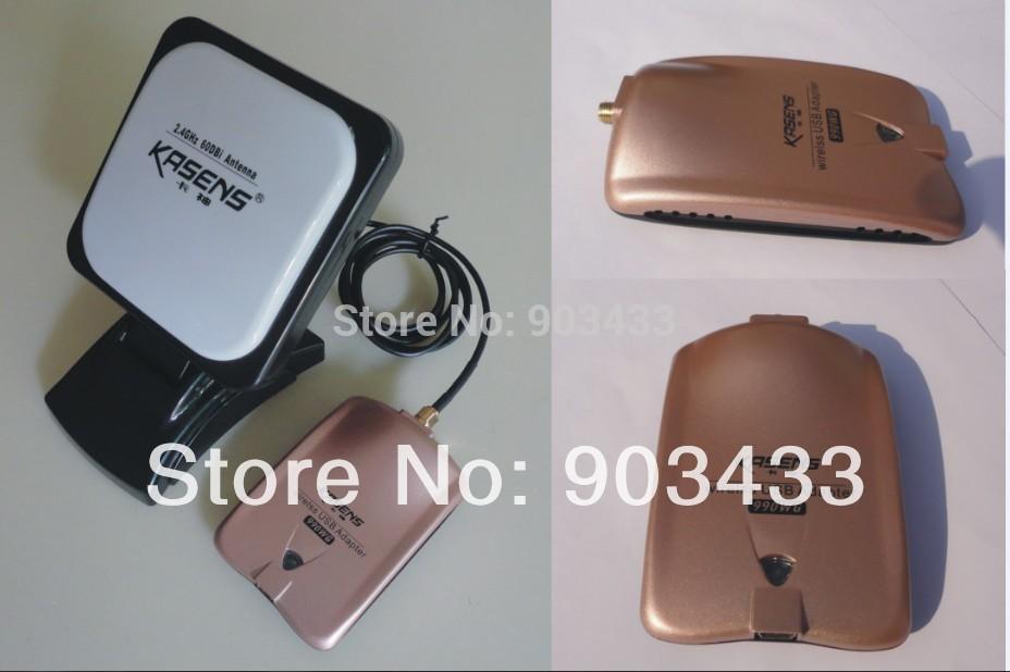 2013 kasens new Launch 60DBI panel Antenna RT3070 SMA connector wireless USB adapter Adaptador wifi usb 6000MW free DHL shipping