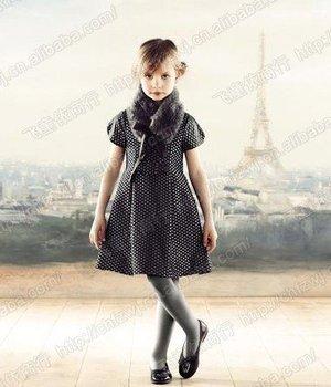 jacadi baby girls dress black white kids dresses toddler short sleeve Girl Dress 1203B ch