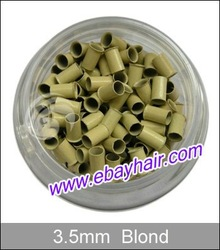 1000 micro copper rings /LOT Blonde color for micro rings hair extension/ Stick tip/ I-tip hair beauty salon use(China (Mainland))