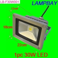 30W floodlight IP65 RGB with remote control