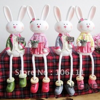 Free Shipping/  American European country style Easter rabbit   easter  items, easer gift and crafts home decoration,shy  rabbit