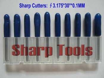 10 pcs 3.175MM Shank, 30 Angle, 0.1MM Flat Bottom CNC Router Tools, Cutting Bits,Carving Tools,V Shape Engraving Bit,PCB Cutters