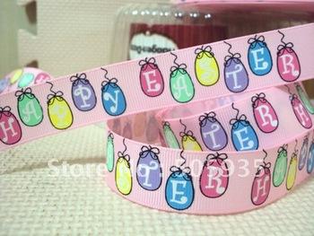 50Y017 david ribbon 7/8 ''happy easter grosgrain ribbon hairbows printed ribbon freeshipping