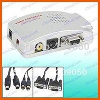 PC to TV Box,VGA to S-video AV Switch Converter