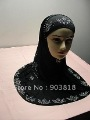 free shipping 2-pcs higabs with diamond embroidery,muslim scarf,islamic scarf,muslim hijab,islamic hijab 112208