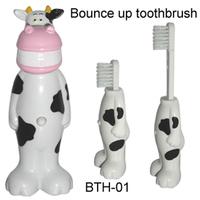 cartoon retractable toothbrush/plastic cartoon children toothbrush Design send by random