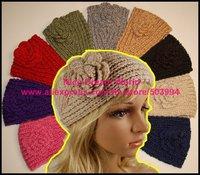 Promotion sale Women headdress,Handmade knit Flower headwrap,flower hairband (ZK-03)