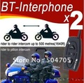 Free shipping New 2pcs/lot 500m talking range Real 2 Way Motorcycle Helmet Headsets Wholesale and Retail