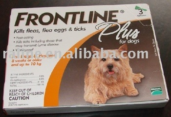 High quality Frontline Plus for dogs 0-22 lbs,0.67 ml Dog Flea Tick Remedies 60pcs(3pcs a box)