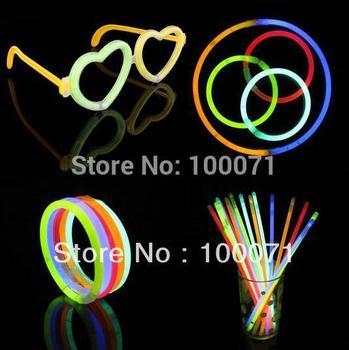 100Pcs/lot  Multi Color Glow Stick Light Bracelets Party Fun #3246