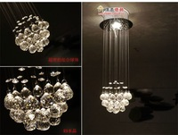 Special Spherical crystal chandeliers hanging wire Bar counter lights Bedroom lamps Restaurant Lighting Crystal decoration