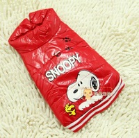 Free shipping Snoopy down clothes dog coat, pet clothes, dog dress red