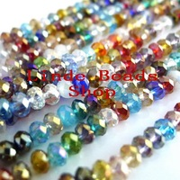 Free Shipping! 10mm AAA Top Quality  Crystal 5040 Rondelle Beads-multi mix Colour B0100033303