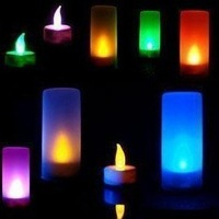 Wholesale Brand NEW Led sensor candle light, 7 colors changing candle, wedding or party, LED lamp Free shipping