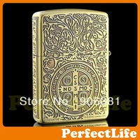 Gold Hell detective Constantine Lighter Smoking Cigarette lighters CROSS steel