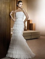 Organza Layers Soft Applique Decoration Wedding Dress
