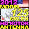 Wholesale!! free shipping 2013  HDTV antenna with remote controlled rotation  AMPLIFIED ROTOR ANTENNA HDTV HD TV VHF UHF OUTDOOR