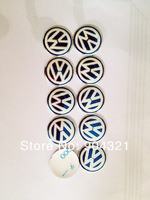 10pcs 14mm Remote Key Fob Logo Badge Emblem For Volkswagen VW Jetta Golf Passat  free shipping